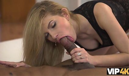 VIP4K. Blonde girl stays with black friend and allows him to fuck her