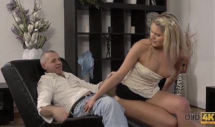 OLD4K. After nice fingering chick is ready for sex