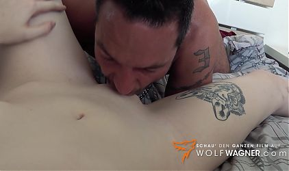 Jessii van Riva: jizzed on in the stairwell! Wolfwagner.cating
